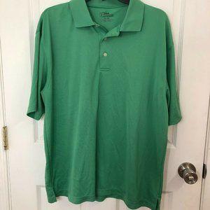 PGA Tour Golf Green Polo Shirt  Size XL